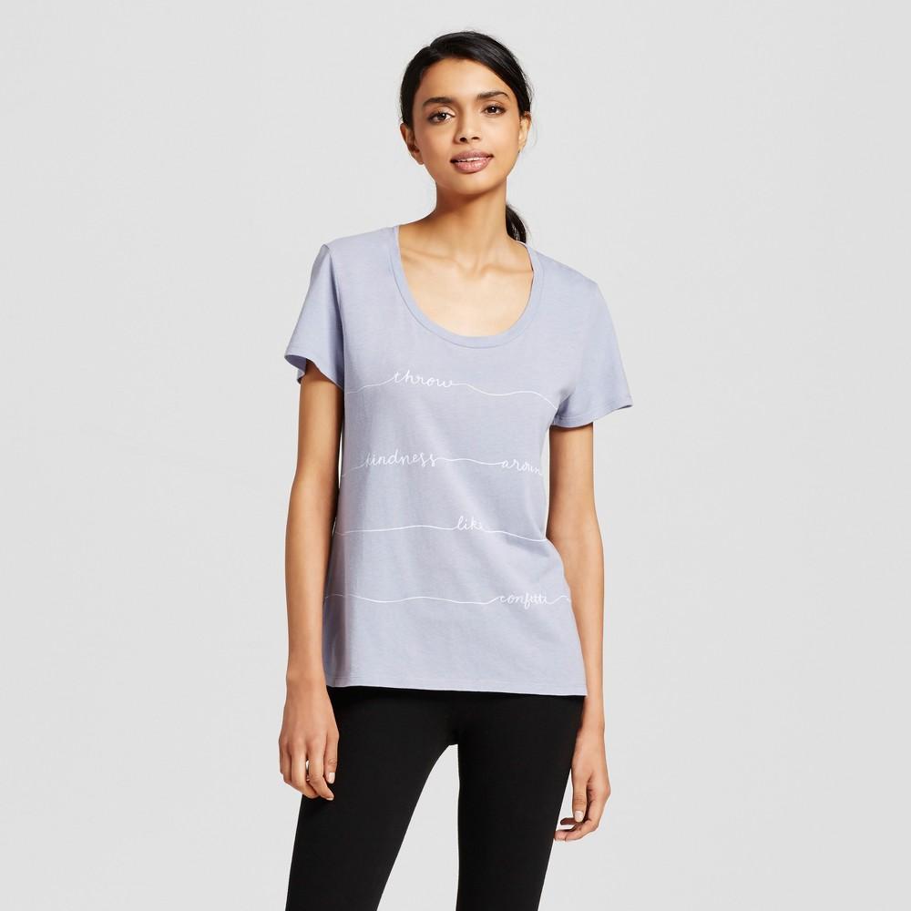 Womens Sleep T-Shirt - Misty Blue XS