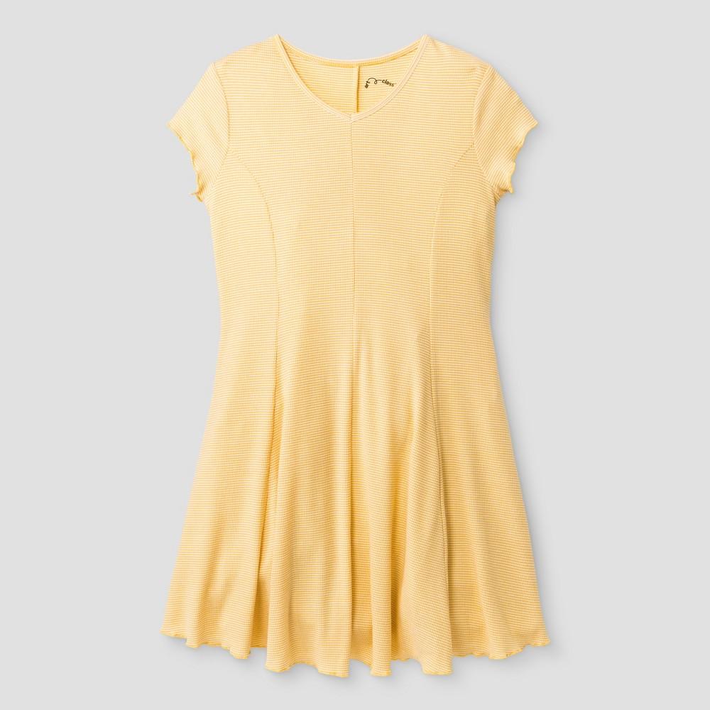 Girls Knit Dress - Art Class Golden Yellow M