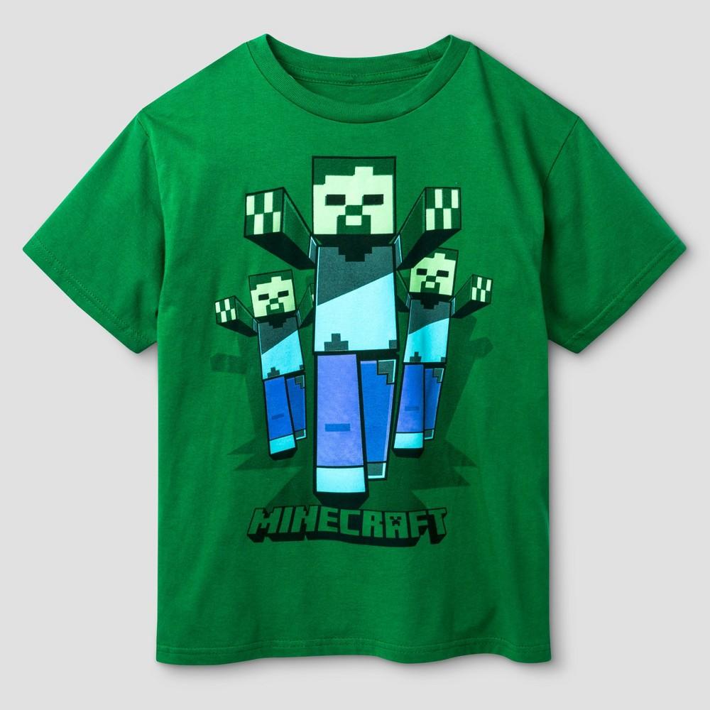 Boys Minecraft Zombie Crew T-Shirt - Kelly Green Xxl