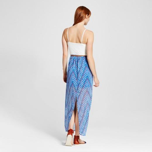 s chevron skirt belted sweetheart maxi dress