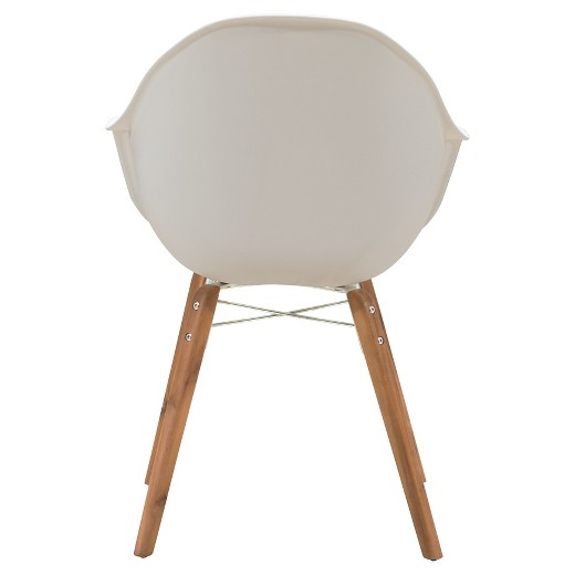 Mid Century Modern 4pk Outdoor Dining Chair White ZM Home Tar