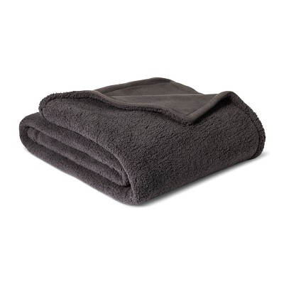 Sherpa Blanket (Twin/Twin Extra Long)Gray - Room Essentials™