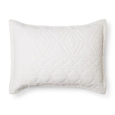 White Diamond Stitch Pillow Sham (Standard)- Threshold™