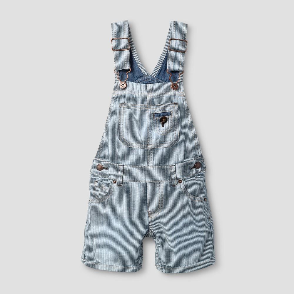 Toddler Boys Denim Shortall Genuine Kids from OshKosh Light Blue 12M, Size: 12 Months