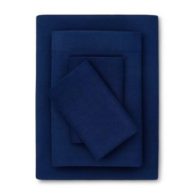 Solid Microfiber Sheet Set (Queen)Nighttime Blue - Room Essentials™