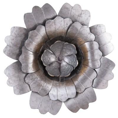 Large Roadside Wall Flower - Silver - Foreside Home & Garden