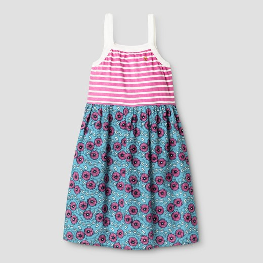 Girls' and Toddler Happy by Pink Chicken Striped Floral Dress ...