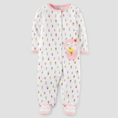 Baby Girls' Owl Ice Cream Cotton Sleep N' Play - Just One You™ Made by Carter's® Off White 9M