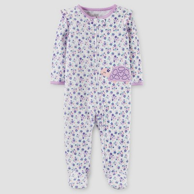 Baby Girls' Turtle Cotton Sleep N' Play - Just One You™ Made by Carter's® Purple NB