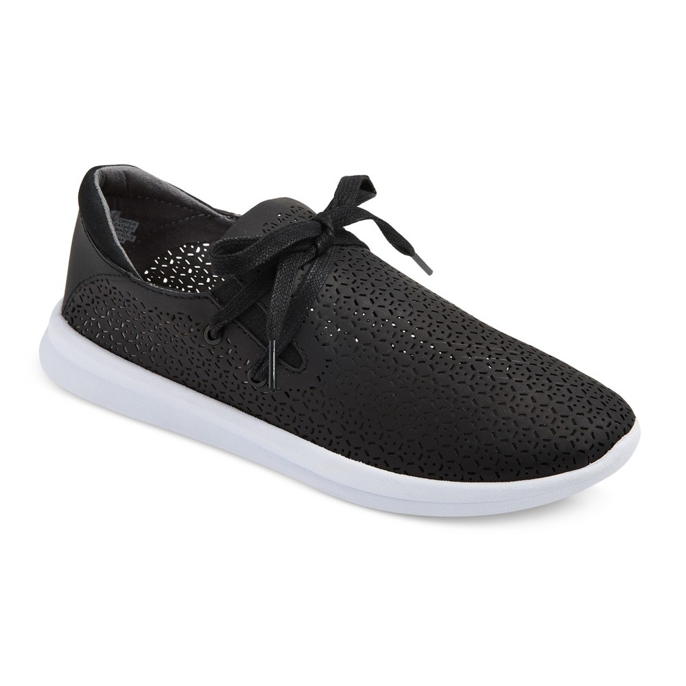 Womens Raelee Laser Cut Sneakers - Mossimo Supply Co. Black 6