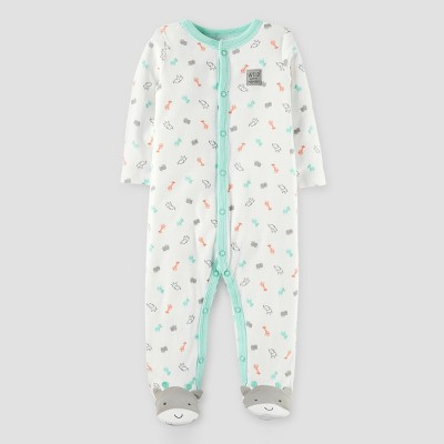 Baby Giraffe Cotton Sleep N' Play - Just One You™ Made by Carter's® Off White NB