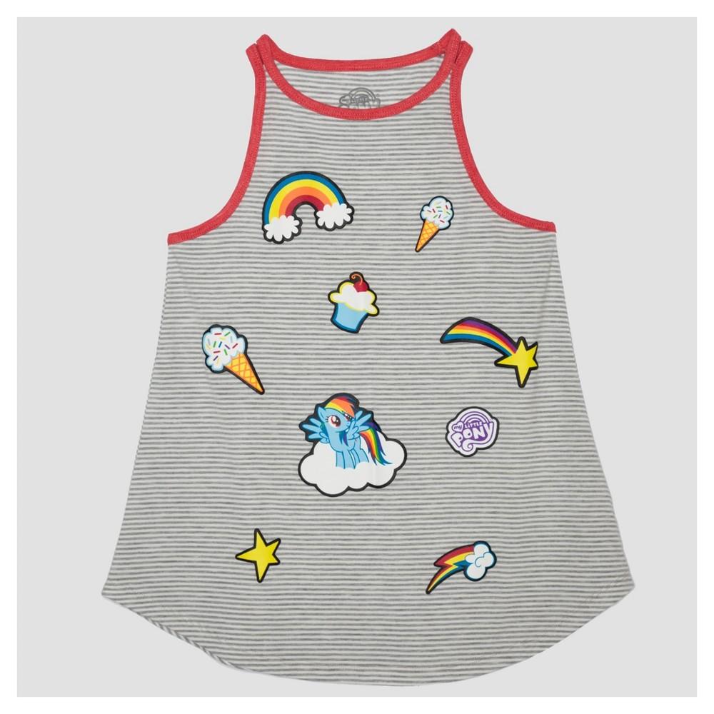 Girls My Little Pony Tank Top - Gray S, Size: S (6-6X)