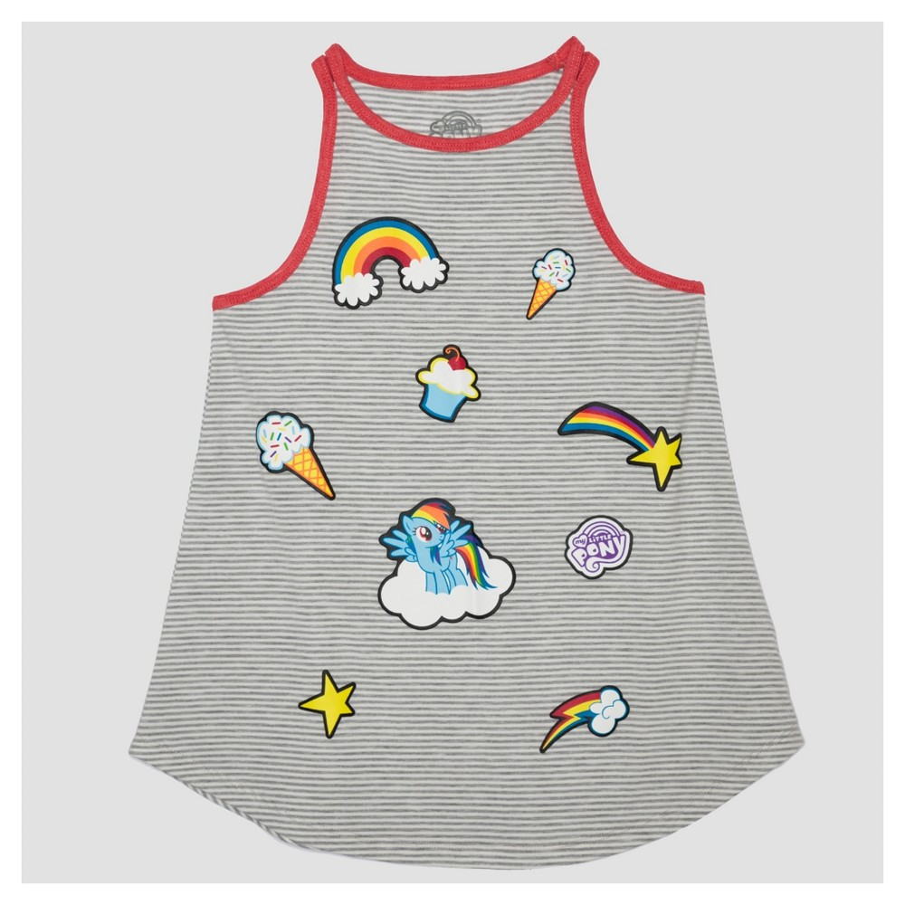 Girls My Little Pony Tank Top - Gray XL, Size: XL(14-16)