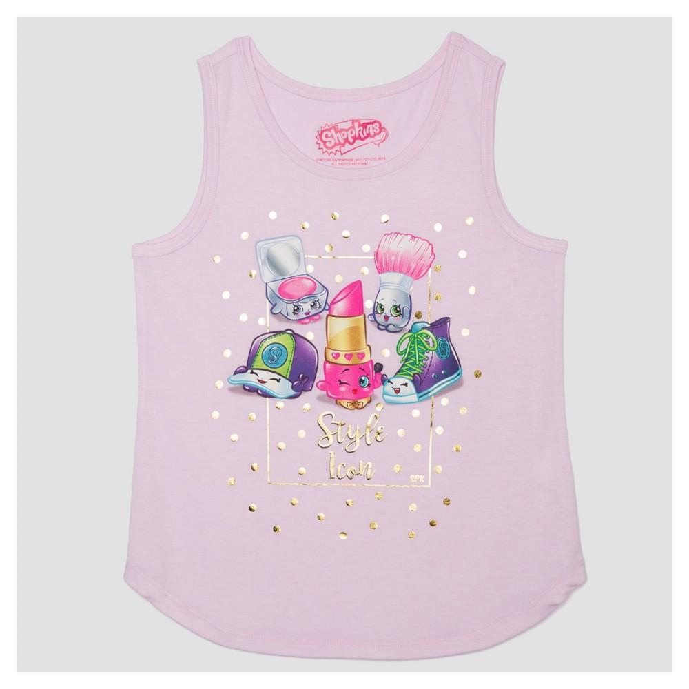 Plus Size Girls Shopkins Tank Top - Pink XL Plus