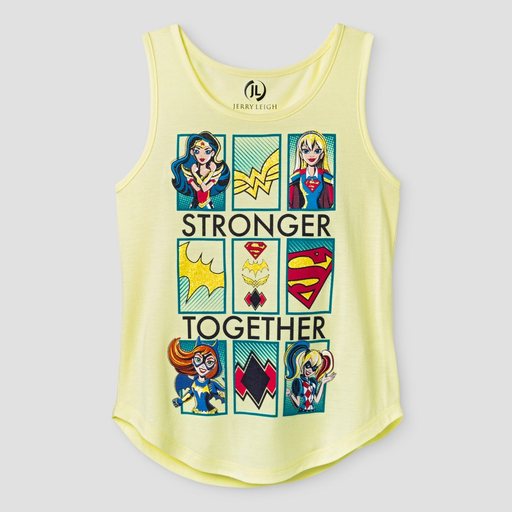 Girls DC Super Hero Girls Tank Top - Yellow L
