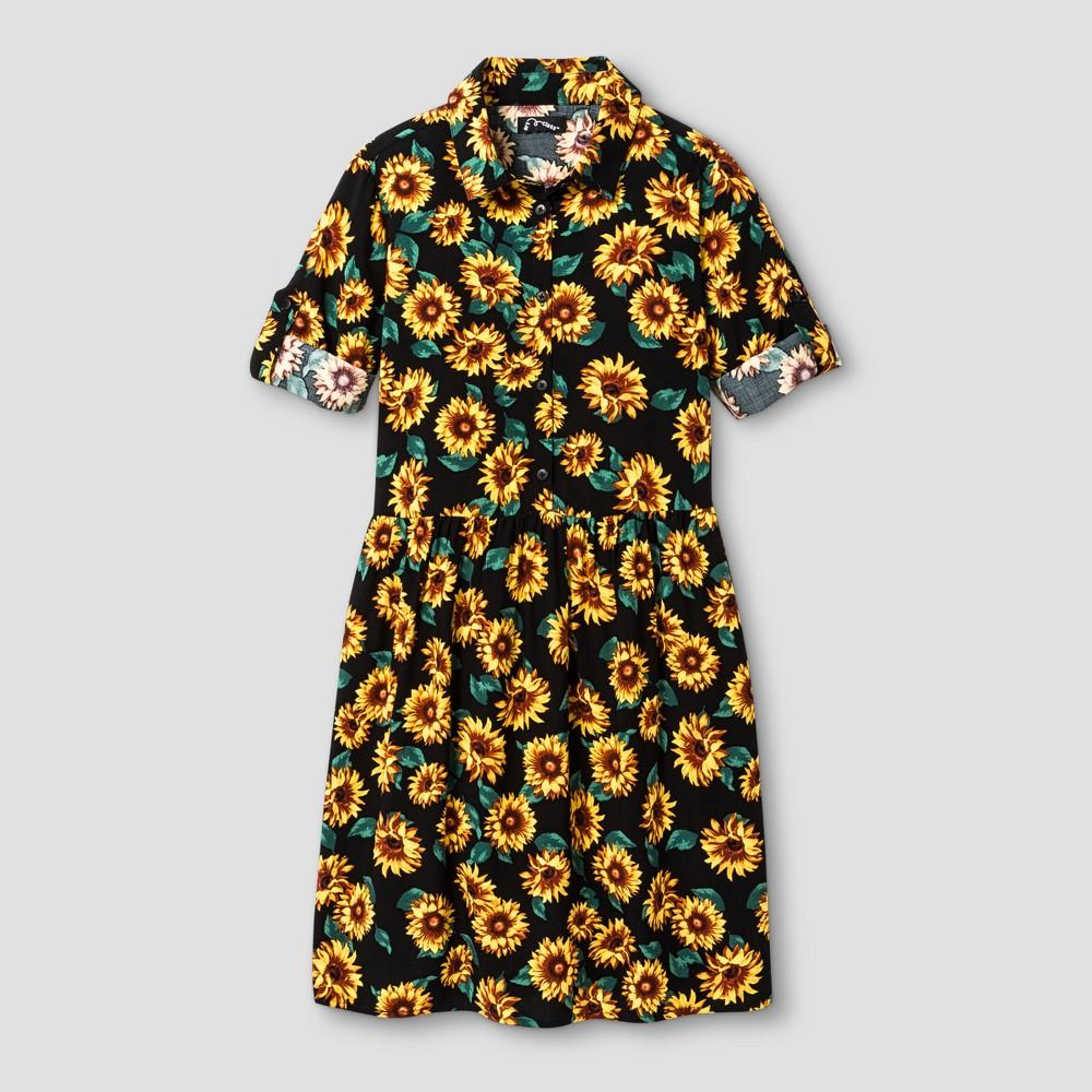 Girls Babydoll Dress - Art Class Sunflower XL, Yellow