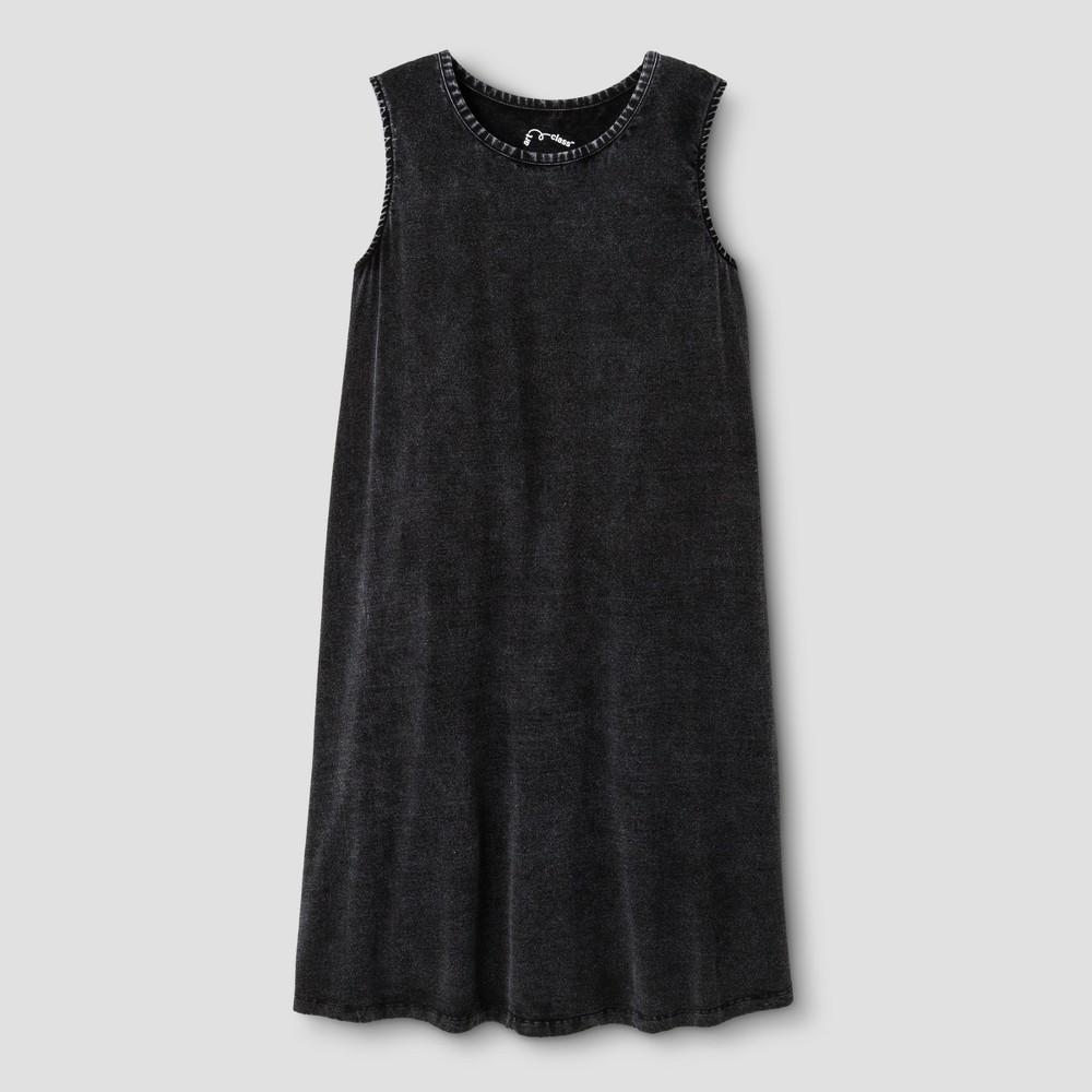 Girls Tank Dress - Art Class Soot Black S