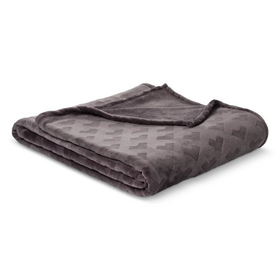 Embossed Plush Blanket (Twin)Flat Gray - Room Essentials™