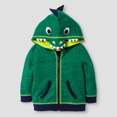 Baby Boys' Alligator Hoodie - Cat & Jack™ Green 3-6 Months