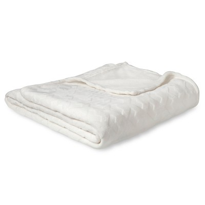 Embossed Plush Blanket (Full/Queen)Sour Cream - Room Essentials™