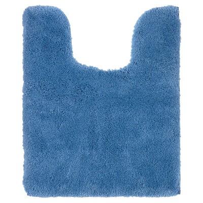 Luxury Solid Contour Bath Rug Kettle Blue - Fieldcrest®
