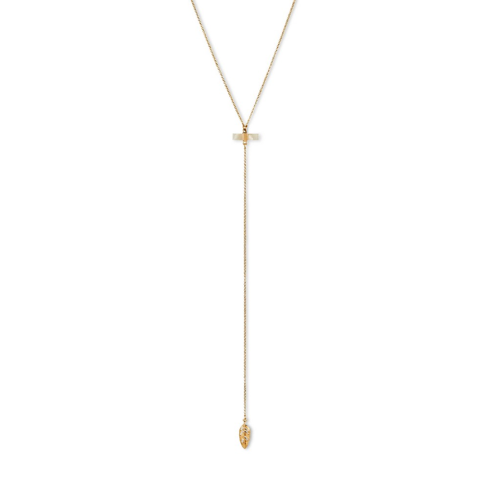 Women's Y Neck with Leaf – Gold (16)