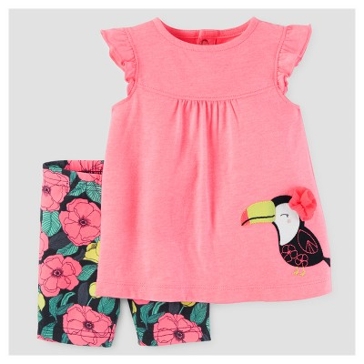 Baby Girls' 2pc Toucan/Floral Tunic Set - Just One You™ Made by Carter's® Pink 3M