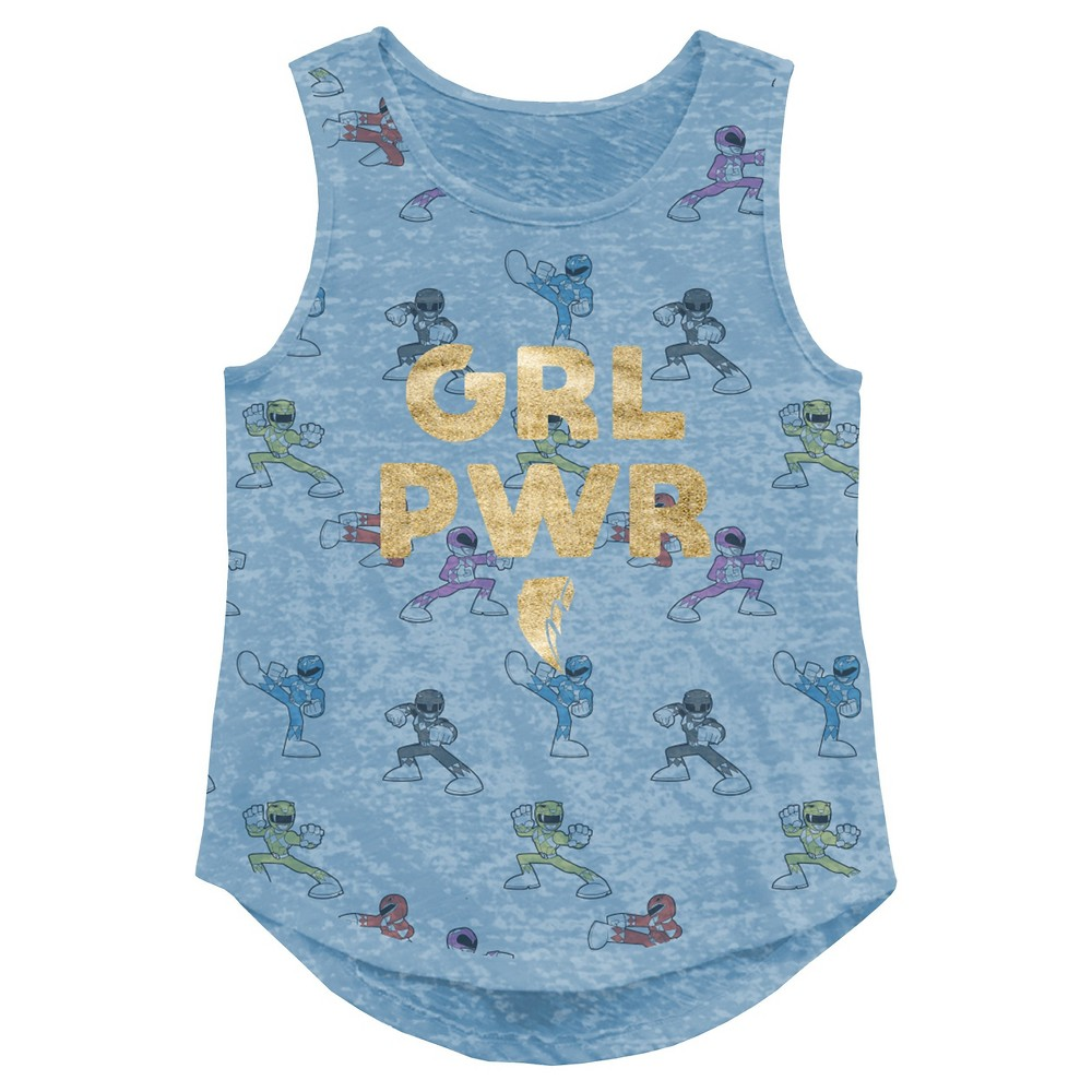 Plus Size Girls Power Rangers Tank Top - Blue Xxl Plus