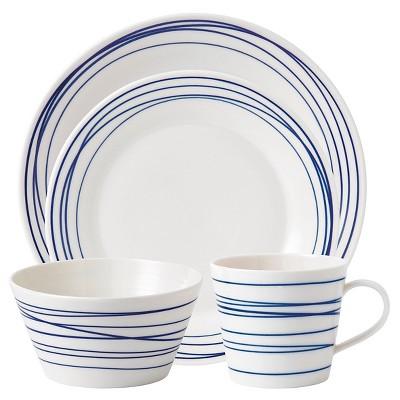 Royal Doulton® Pacific Lines Porcelain 4pc Dinnerware Set Blue