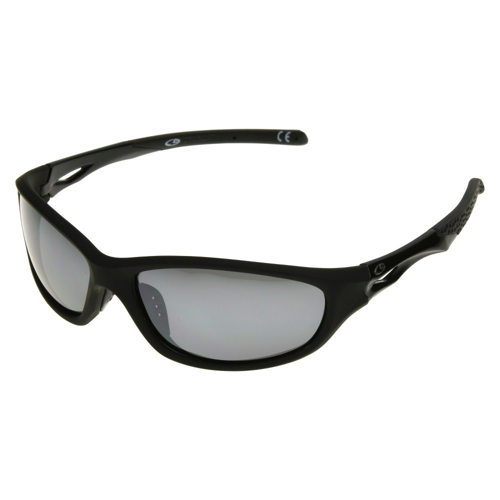 Mens Full Frame Polarized Performance Sunglasses with Smoke Lenses - Black - C9 by Champion