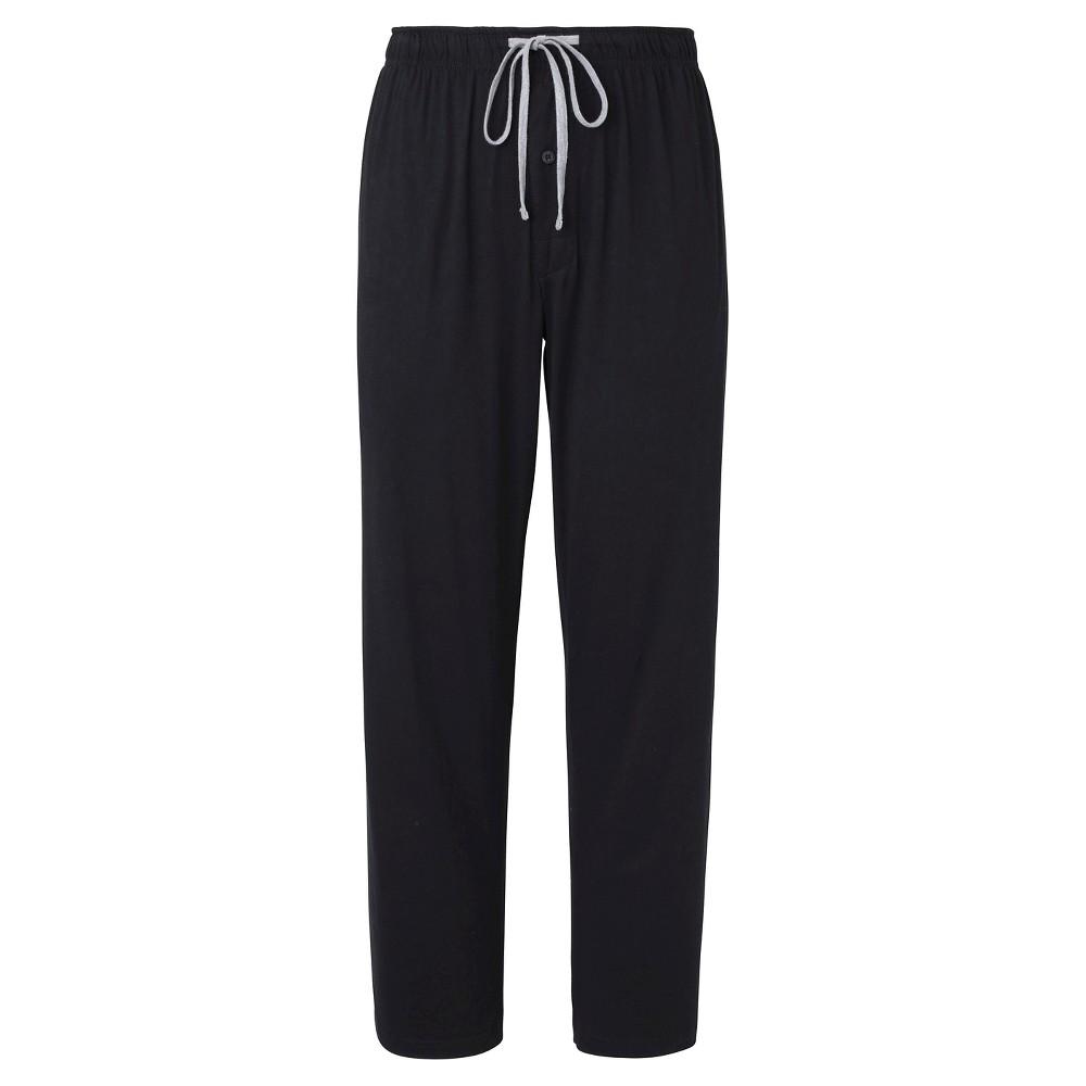 Mens Hanes Premium Knit Sleep Pants - Black L