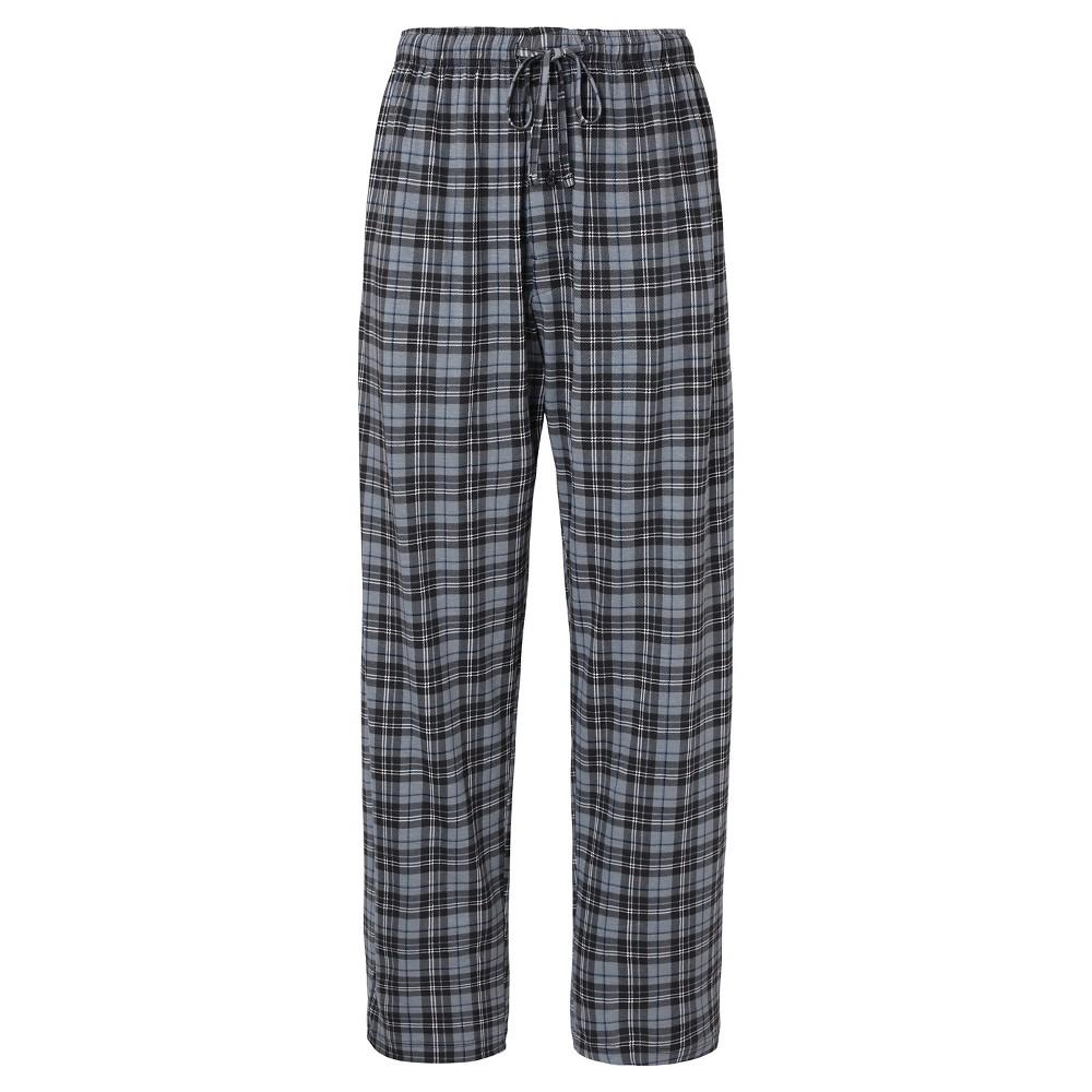 Mens Hanes Premium Knit Sleep Pants - Gray Plaid XL