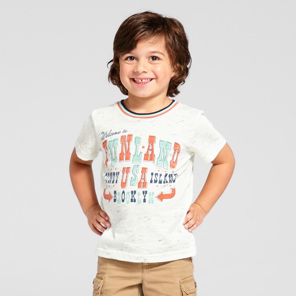 Toddler Boys Funland T-Shirt - Genuine Kids from OshKosh Cream 2T, Beige