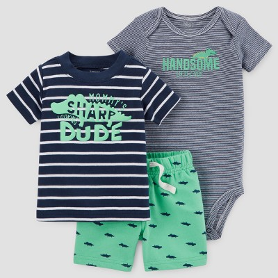 Baby Boys' 3pc Sharp Dude Set - Just One You™ Made by Carter's® Navy 3M