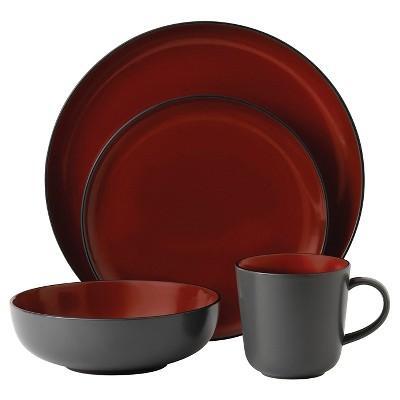 Gordon Ramsay by Royal Doulton® Bread Street Stoneware 4pc Dinnerware Set Black Cherry