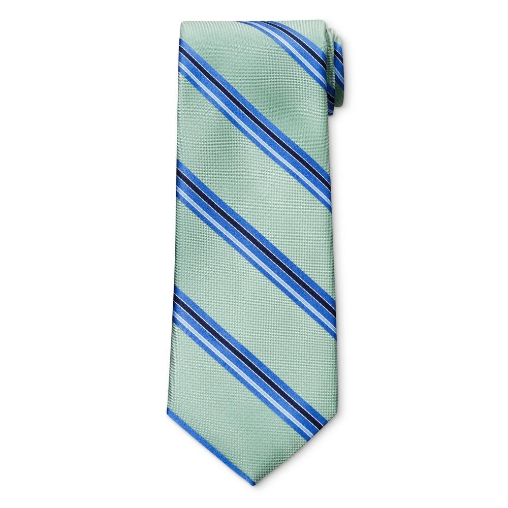 Mens Thin Stripe Green NeckTie - Merona Green