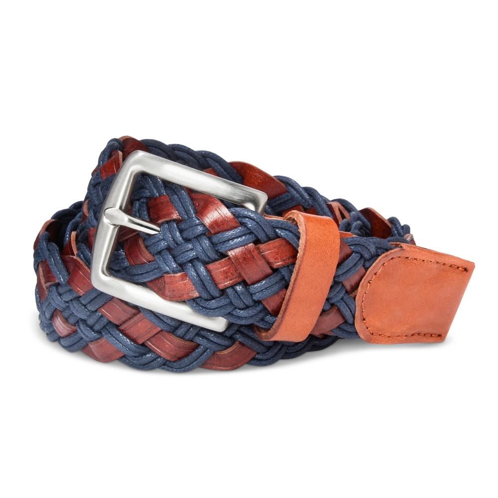 Mens Cord Braid Leather Belt - Merona Cog/Navy XL, Blue
