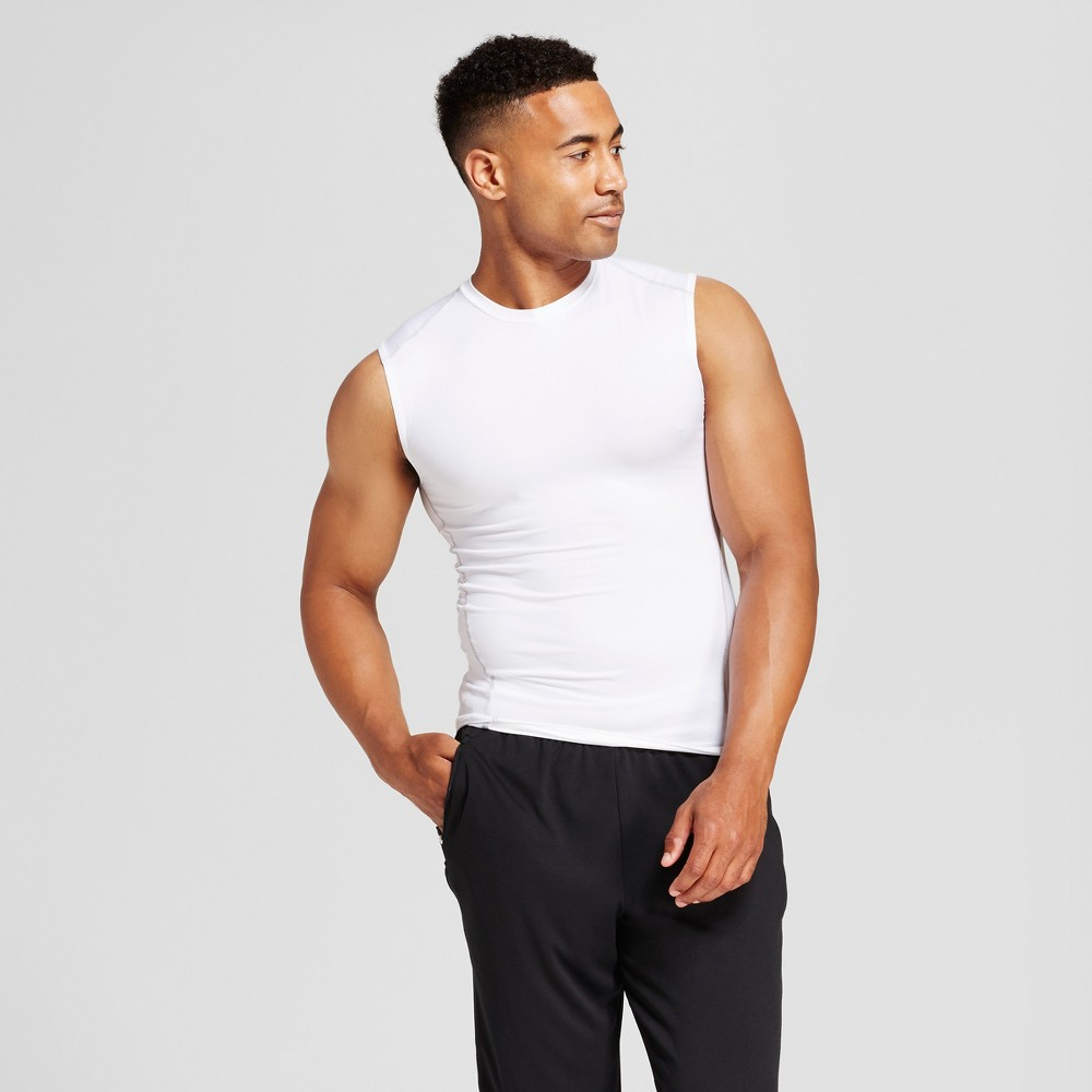 Mens Sleeveless Powercore Compression Shirt - C9 Champion - White M