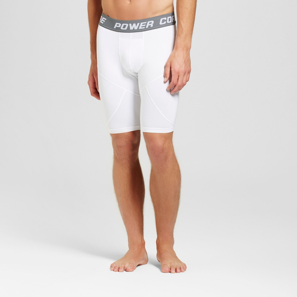 Mens 11 Compression Shorts - C9 Champion - White L