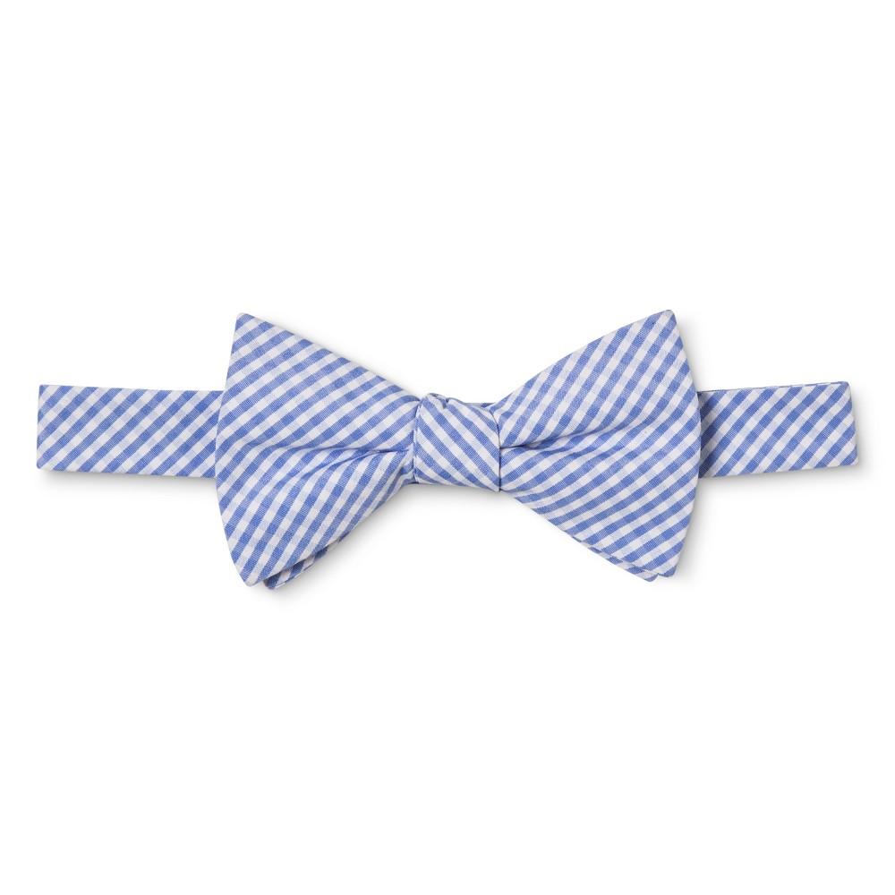 Mens Gingham Bow Tie - Merona Blue
