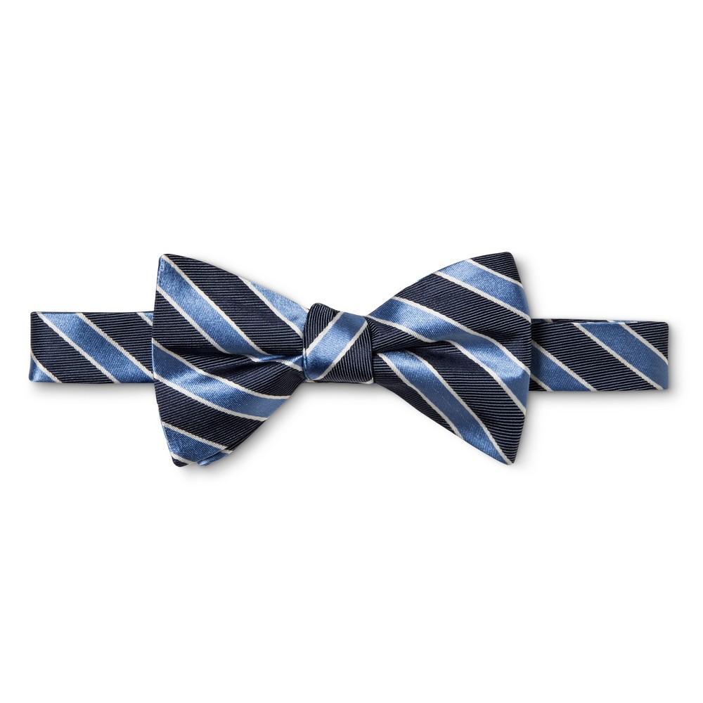 Mens Multi Stripped Bow Tie - Merona Navy (Blue)