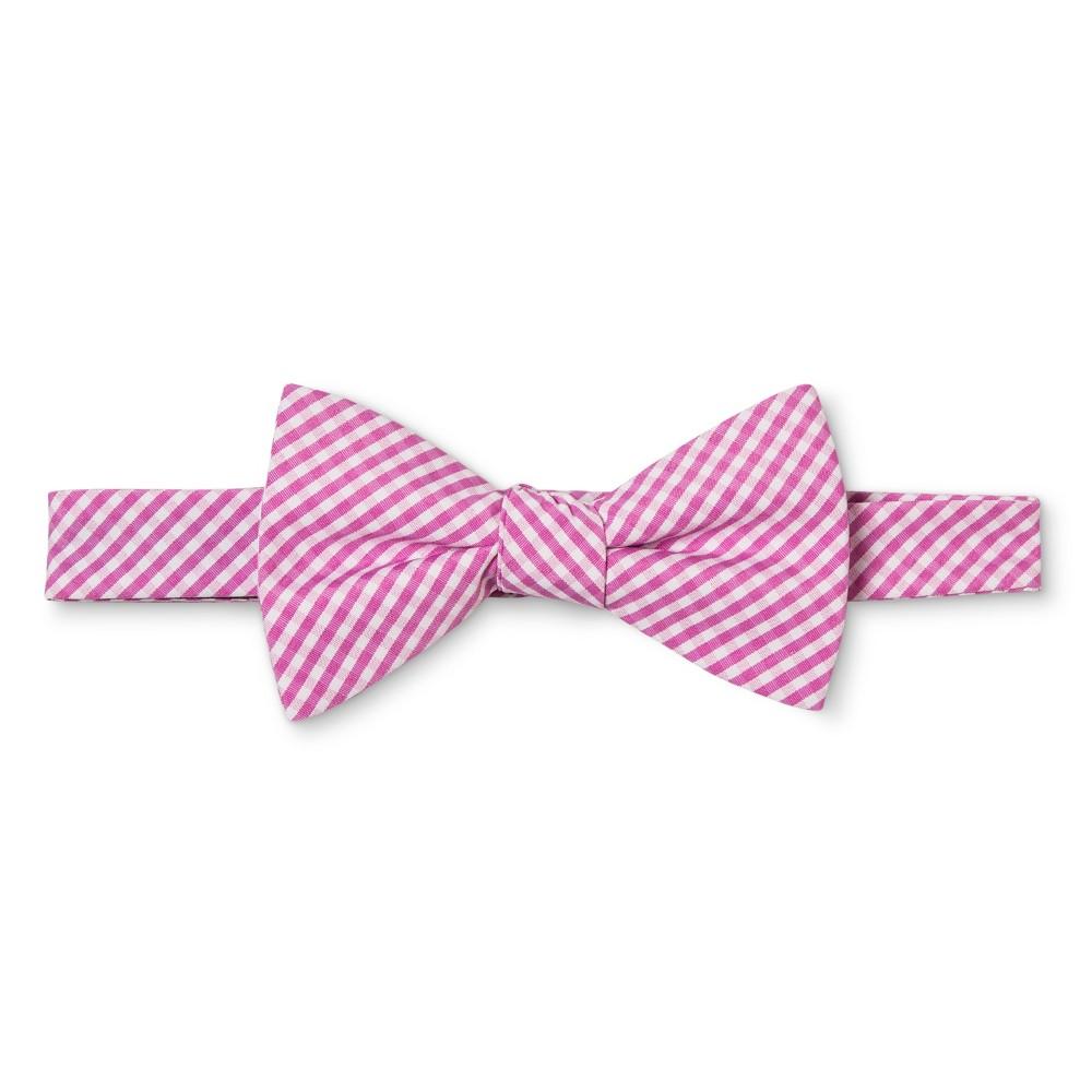 Mens Gingham Bow Tie - Merona Pink