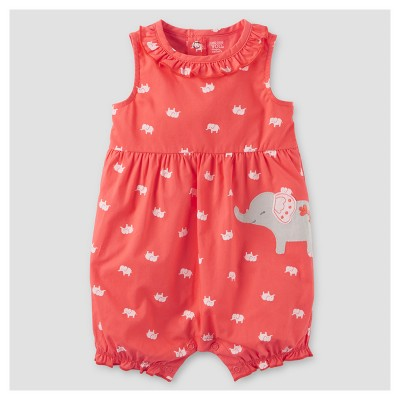 Baby Girls' One Piece Elephant Romper - Just One You™ Made by Carter's® Pink 6M