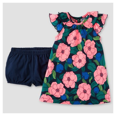 Baby Girls' Floral Dress - Just One You™ Made by Carter's® Navy 9M