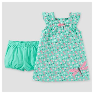 Baby Girls' Dragonfly Dress - Just One You™ Made by Carter's® Turquoise NB