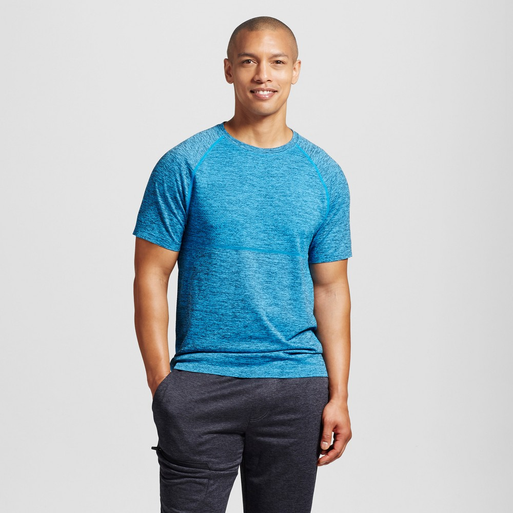 Mens Seamless Run T-Shirt - C9 Champion Sky Blue L