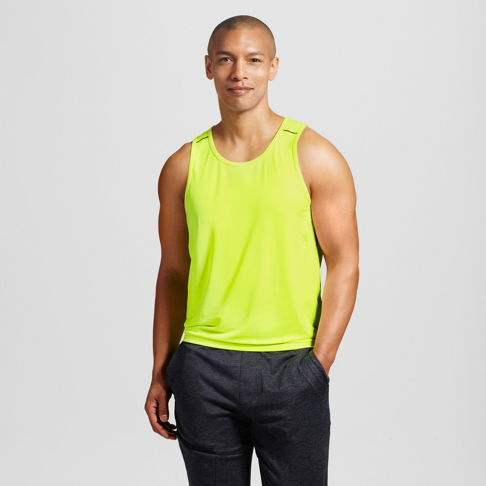 Mens Elevated Striped Run Tank - C9 Champion Neon Light L
