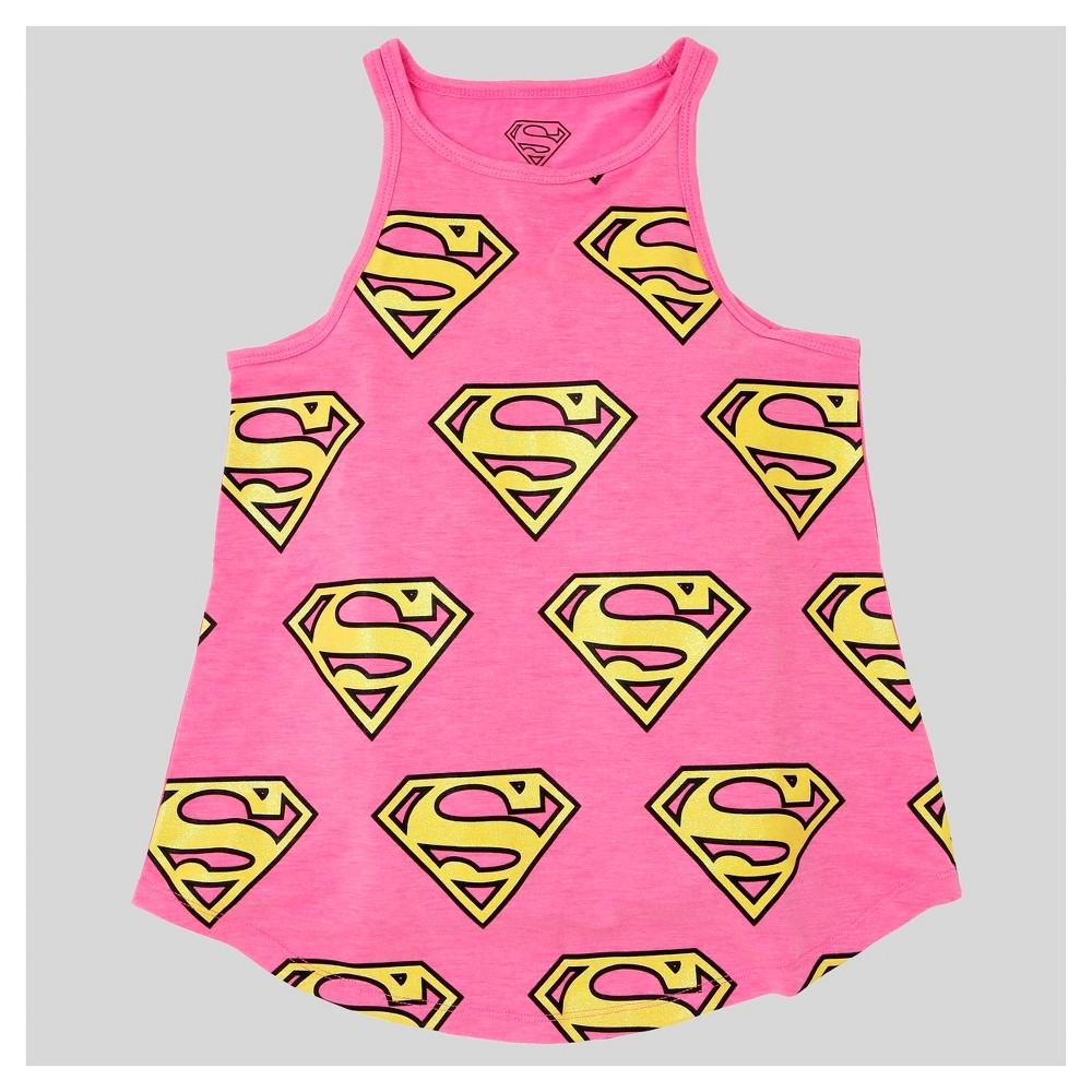 Girls Supergirl Tank Top - Pink M