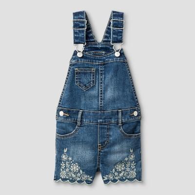 Toddler Girls' Shortalls Genuine Kids™ from OshKosh® Medium Blue 12M