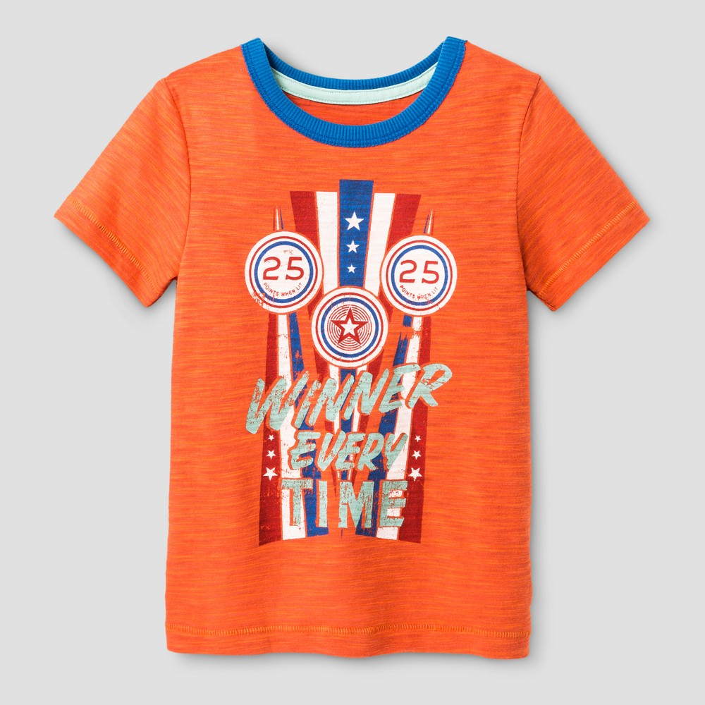 Toddler Boys Graphic T-Shirt - Genuine Kids from OshKosh Monarch Orange Opaque 12M, Size: 12 M, Pink
